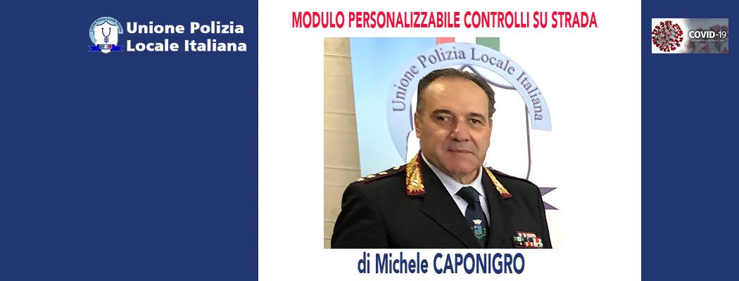 MODELLO REGISTRO CONTROLLI SU STRADA COVID (modulo personalizzabile) di M.Caponigro.