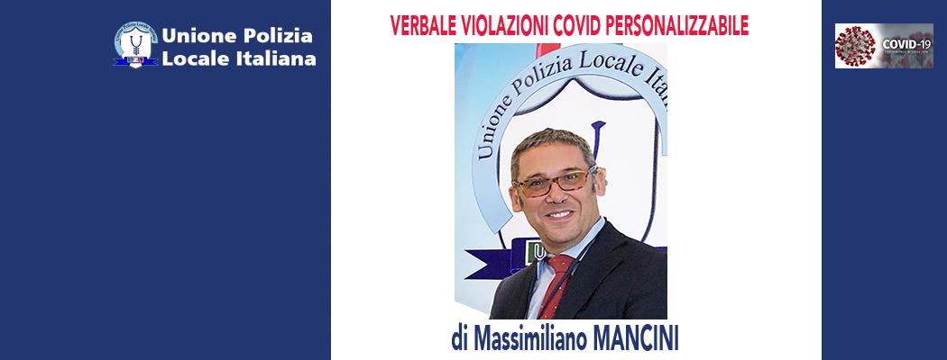 MODELLO VERBALE PER ACCERTAMENTO VIOLAZIONI COVID (modulo personalizzabile) di M.Mancini