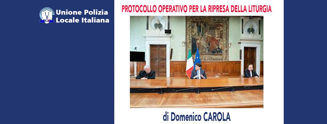 PROTOCOLLO OPERATIVO PER LA RIPRESA DELLA LITURGIA di D.Carola