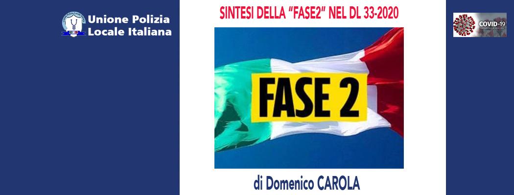 """SINTESI DELLA """"FASE2"""" NEL DL 33-2020 di D.Carola"""