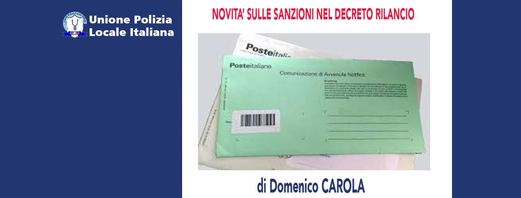 NOVITA' SULLE SANZIONI NEL DECRETO RILANCIO di D.Carola