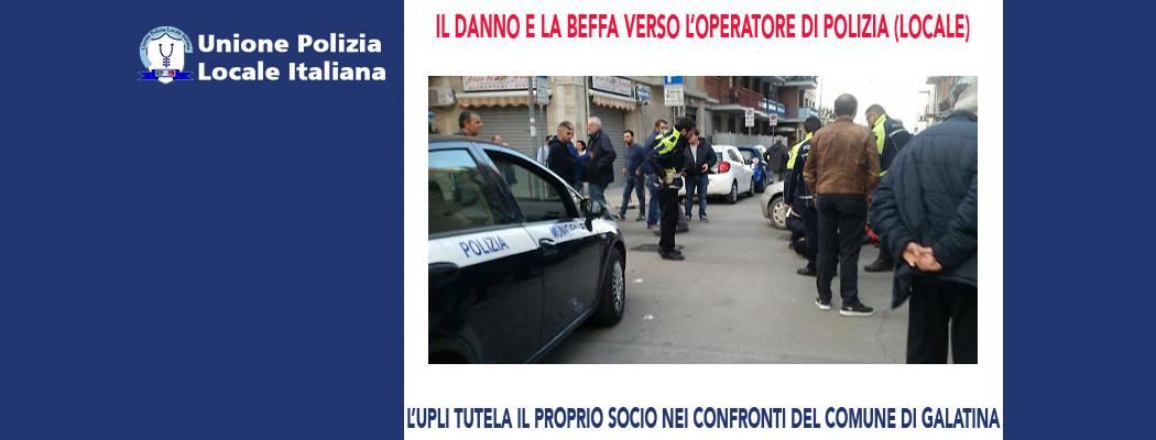 IL DANNO E LA BEFFA VERSO L'OPERATORE DI POLIZIA (LOCALE)
