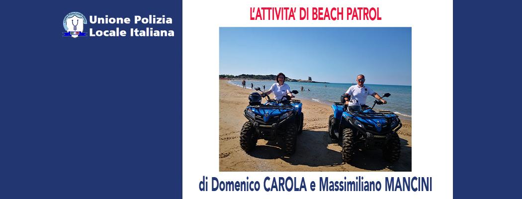 L'ATTIVITÀ DI BEACH PATROL di D.Carola e M.Mancini