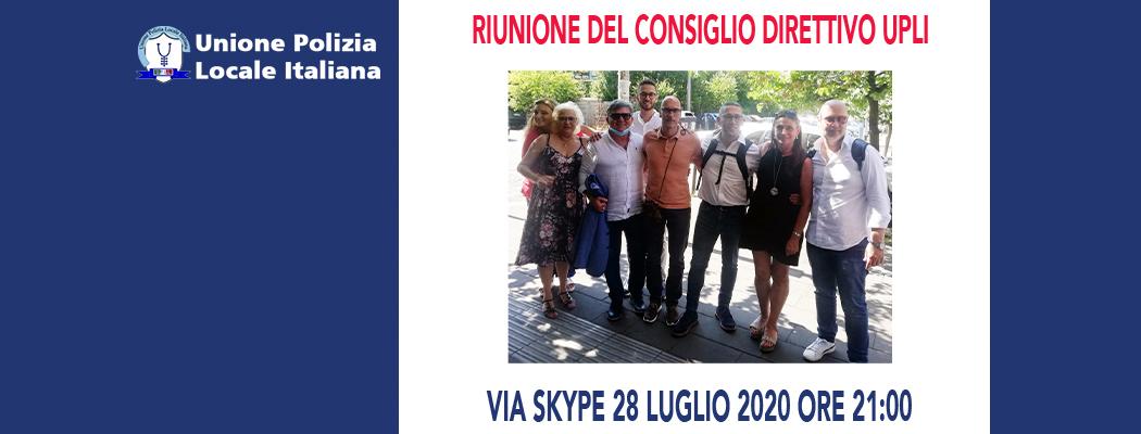 RIUNIONE DEL CONSIGLIO DIRETTIVO PER IL 28 LUGLIO 2020