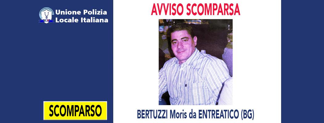 AVVISO SCOMPARSA: BERTUZZI MORIS DA ENTRATICO (BG)