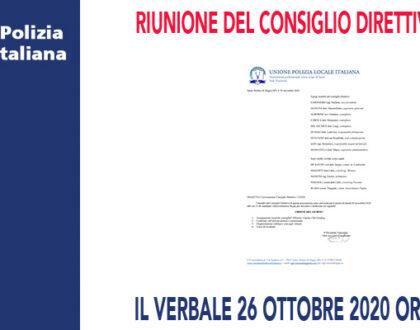 RIUNIONE DEL CONSIGLIO DIRETTIVO PER IL 30 NOVEMBRE 2020