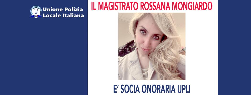 ROSSANA MONGIARDO È SOCIA ONORARIO DELL'UPLI