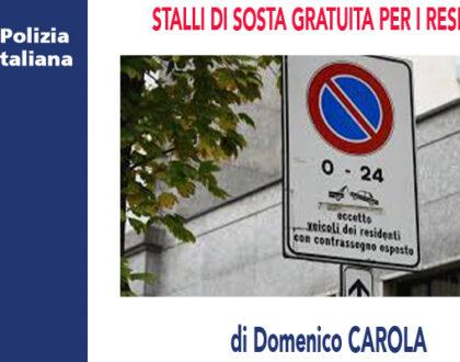 RISERVA DI POSTI PER I RESIDENTI di D.Carola