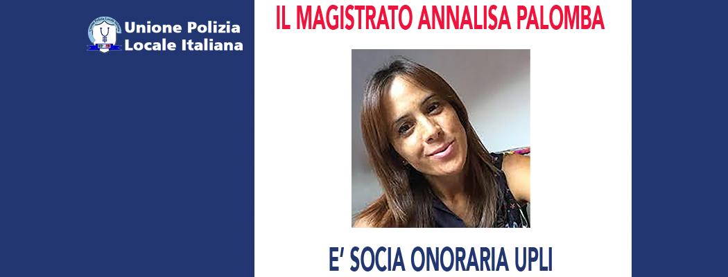 ANNALISA PALOMBA È SOCIA ONORARIO DELL'UPLI