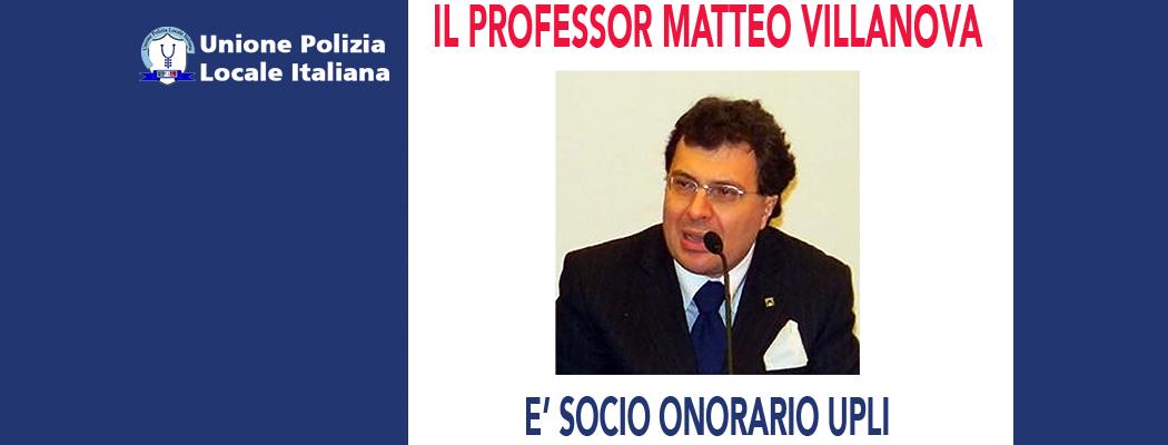 MATTEO VILLANOVA È SOCIO ONORARIO DELL'UPLI