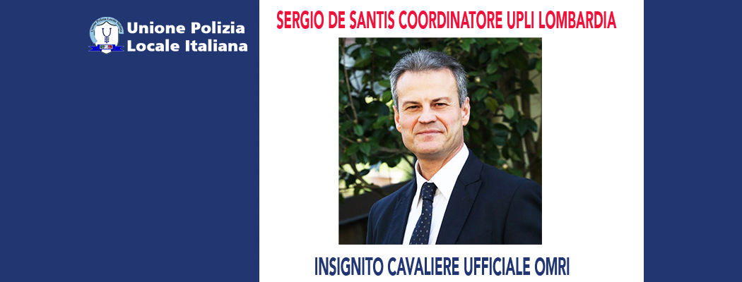 SERGIO DE SANTIS È CAVALIERE UFFICIALE