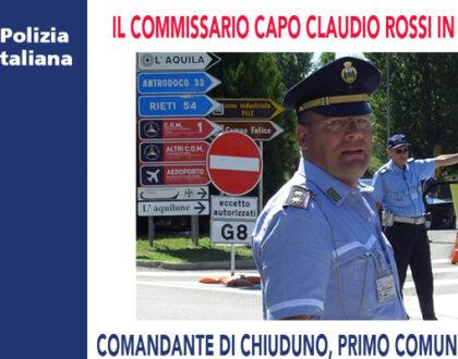 IL COMMISSARIO CAPO CLAUDIO ROSSI È IN PENSIONE