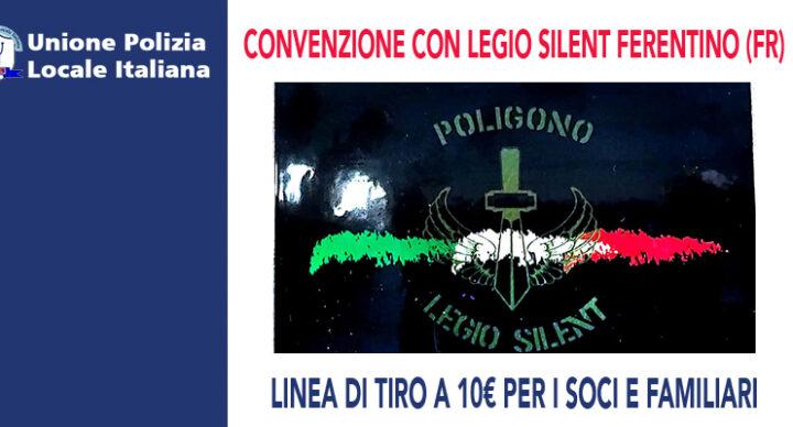 CONVENZIONE UPLI CON IL POLIGONO LEGIO SILENT NEL FRUSINATE