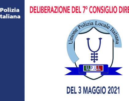 DELIBERAZIONI DEL CONSIGLIO DIRETTIVO DEL 3 MAGGIO 2021