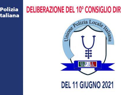 DELIBERAZIONI DEL CONSIGLIO DIRETTIVO DEL 11 GIUGNO 2021