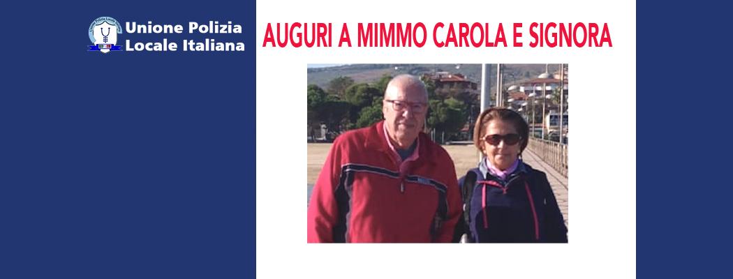 AUGURI A MIMMO CAROLA E SIGNORA
