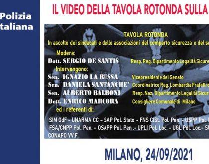 IL VIDEO DELLA TAVOLA ROTONDA SULLA SICUREZZA A MILANO